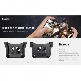 Baseus Gamepad Grip Trigger Aim L1 R1 PUBG with Cooling Fan - SUCJLF-01 - Black - 7