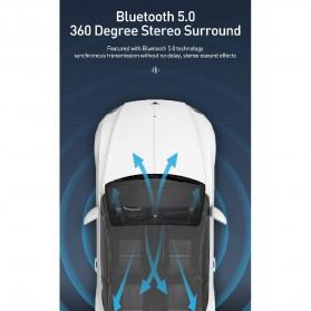Baseus Car Bluetooth 5.0 FM Audio Transmitter with 3 USB Port + TF Card Slot - CCTM-B01 - Black - 7
