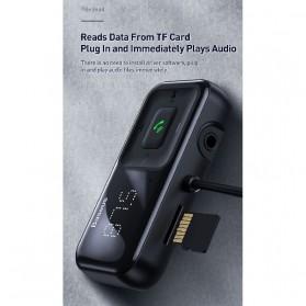 Baseus S-16 Bluetooth 5.0 Audio Receiver FM Transmitter with 2 Port USB Car Charger - CCTM-E01 - Black - 7