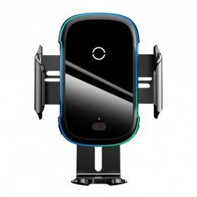 Baseus CW-YMS Light Smarthone Car Holder Wireless Charger 15W - WXHW03-01 - Black