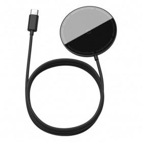 Baseus Mini Qi Wireless Charger Magnetic MagSafe - WXJK-F01 - Black