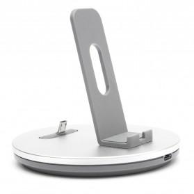 Hoco Desktop Charging Dock Micro USB for Smartphone - CW1 - Silver