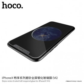 HOCO Enjoy Series Full Tempered Glass for iPhone X - V6X - Black - 2