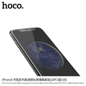 HOCO Sky Extend Series Tempered Glass for iPhone X/XS - V8X 10 PCS - Transparent - 4