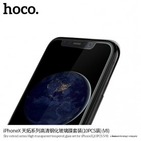 HOCO Sky Extend Series Tempered Glass for iPhone X/XS - V8X 10 PCS - Transparent - 5