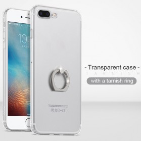 HOCO Anti Crack Metal iRing Case for iPhone 7 Plus / 8 Plus - Silver