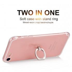 HOCO Anti Crack Metal iRing Case for iPhone 7 Plus / 8 Plus - Silver - 2