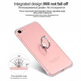 HOCO Anti Crack Metal iRing Case for iPhone 7 Plus / 8 Plus - Silver - 4