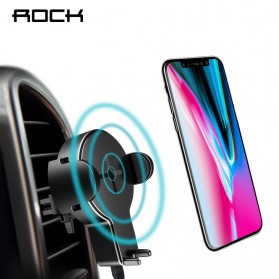 Rock Car Holder Qi Wireless Charger - W2 - Black