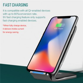 Rock Qi Wireless Charger Docking Stand Dual Coil - W3 - Black - 3