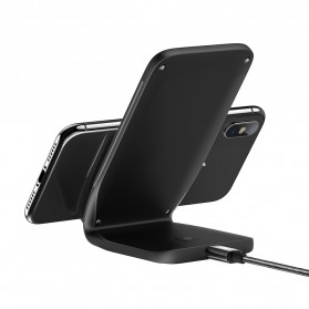 Rock Qi Wireless Charger Docking Stand Dual Coil - W3 - Black - 7