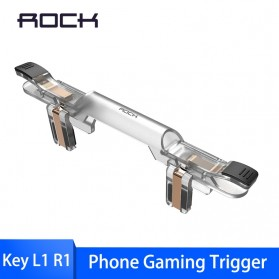 Rock Tombol Trigger Aim Touchpad L1 R1 for Battle Royale PUBG Shooter Game - RPH0871 - Transparent