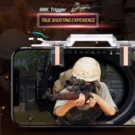 Rock Tombol Trigger Aim Touchpad L1 R1 for Battle Royale PUBG Shooter Game - RPH0871 - Transparent - 2