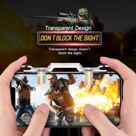 Rock Tombol Trigger Aim Touchpad L1 R1 for Battle Royale PUBG Shooter Game - RPH0871 - Transparent - 7