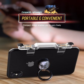 Rock Tombol Trigger Aim Touchpad L1 R1 for Battle Royale PUBG Shooter Game - RPH0871 - Transparent - 8