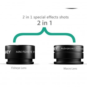 Aukey Lensa Fisheye Macro - PL-A2 - Black - 3