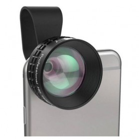 Action Camera, Camera, Tripod, Camera Case - Aukey Optic Pro 2x Telephoto Lens Angle Fish Eye for Smartphone - PL-BL01 - Black