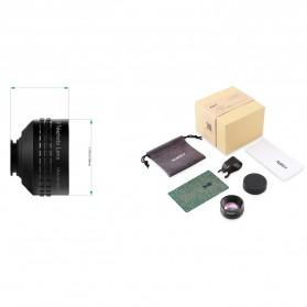 Aukey Optic Pro 2x Telephoto Lens Angle Fish Eye for Smartphone - PL-BL01 - Black - 5