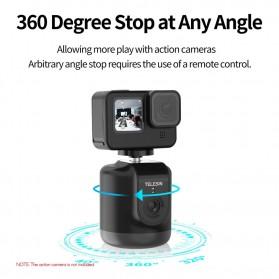 Telesin Smart Selfie Gimbal Auto Tracking Pan Tilt 360 Rotation - TE-GPYT-001 - Black - 2