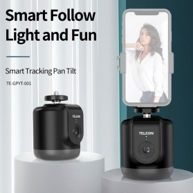 Telesin Smart Selfie Gimbal Auto Tracking Pan Tilt 360 Rotation - TE-GPYT-001 - Black - 4