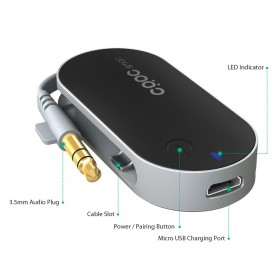CRDC Compact Audio Bluetooth Transmitter - BT-C1 - Black - 5