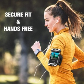 BUBM Sport Armband Rotateable Smartphone Case Universal - XD216 - Black - 2