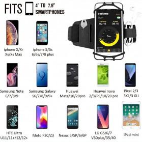 BUBM Sport Armband Rotateable Smartphone Case Universal - XD216 - Black - 3