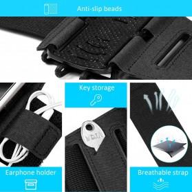 BUBM Sport Armband Rotateable Smartphone Case Universal - XD216 - Black - 4