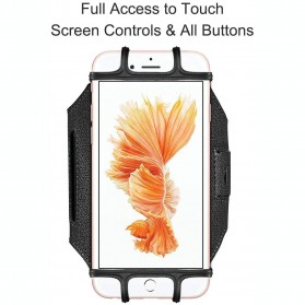 BUBM Sport Armband Rotateable Smartphone Case Universal - XD216 - Black - 5