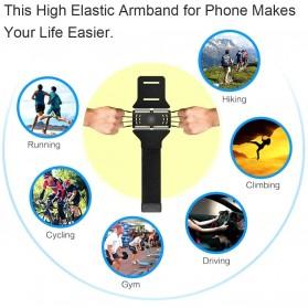 BUBM Sport Armband Rotateable Smartphone Case Universal - XD216 - Black - 6