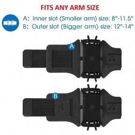 BUBM Sport Armband Rotateable Smartphone Case Universal - XD216 - Black - 7