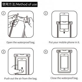 WK Waterproof Bag IPX8 for Smartphone 5.5 Inch - WT-Q01 - Black - 4