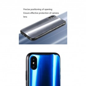 WK Polaris Glass Hard Case for iPhone XS Max - Blue - 3
