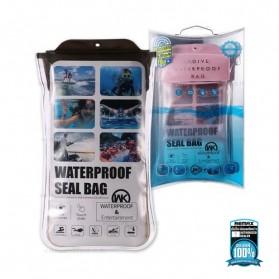 WK Waterproof Bag 30 Meter for Smartphone 4-6.5 Inch - WT-Q02 - Black - 4
