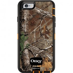 Otter Box Defender Series Case with Realtree Camo for iPhone 6 Plus - Xtra (OEM) - Black