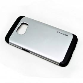 SGP Slim Armor Plastic + TPU Combination Case for Samsung Galaxy S6 Edge (OEM) - Silver