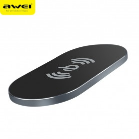 Awei Ultra Thin Qi Wireless Charger - W2 - Black