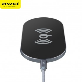 Awei Ultra Thin Qi Wireless Charger - W2 - Black - 2