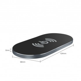 Awei Ultra Thin Qi Wireless Charger - W2 - Black - 4