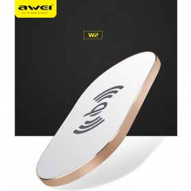 Awei Ultra Thin Qi Wireless Charger - W2 - Black - 5