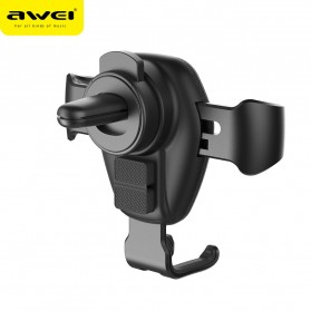 Awei Car Holder Qi Wireless Charger - CW2 - Black - 4