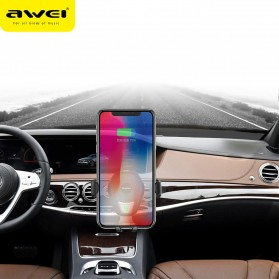 Awei Car Holder Qi Wireless Charger - CW2 - Black - 5