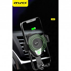 Awei Car Holder Qi Wireless Charger - CW2 - Black - 7