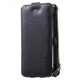 Floveme Flip Case Leather for iPhone 7 Plus/8 Plus (backup) - Black
