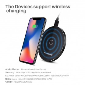 Floveme Qi Wireless Charger 5/10W - KD01 - Black - 3