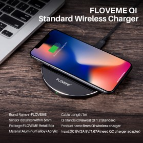 Floveme Qi Wireless Charger 5/10W - KD01 - Black - 5