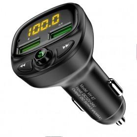 FLOVEME 2 in 1 Smart Car Bluetooth Audio Transmitter + USB Charging - FC1908 - Black - 1