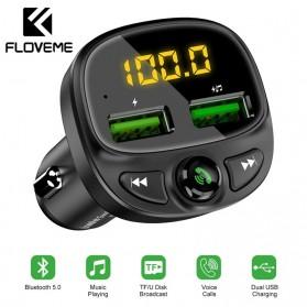 FLOVEME 2 in 1 Smart Car Bluetooth Audio Transmitter + USB Charging - FC1908 - Black - 2