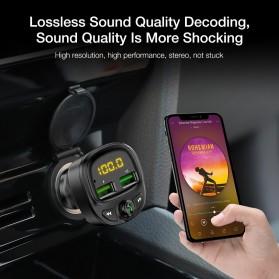 FLOVEME 2 in 1 Smart Car Bluetooth Audio Transmitter + USB Charging - FC1908 - Black - 3