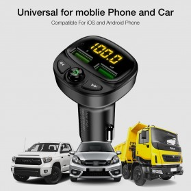 FLOVEME 2 in 1 Smart Car Bluetooth Audio Transmitter + USB Charging - FC1908 - Black - 6